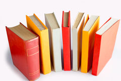Standing book queue Royalty Free Stock Images