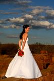 Standing Bride stock photos