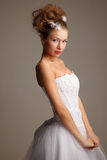 Standing bride Stock Images