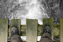 Standing on the bridge Stock Image