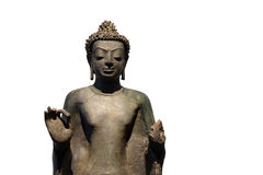Standing Buddha in the gesture of preaching. Found at Ban Fai Sub-district, Buri Ram Province, Dvaravadi style, 8-9th century (1,200-1,300 years ago Royalty Free Stock Photography