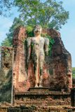 Standing Buddha at Kamphaeng Phet Historical Park in Thailand Royalty Free Stock Images