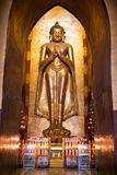 Standing Buddha Kassapa at south facing part of the Ananda templ Royalty Free Stock Photography
