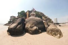 Standing Buddha at Khao Takiab temple on Hua Hin Beach,Thailand. Stock Images