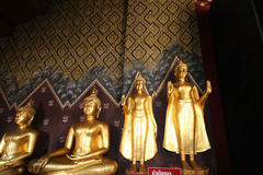 Standing Buddha orderly Royalty Free Stock Photos