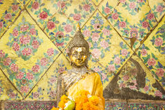 Standing Buddha in Songkran Festival. At Bangkok, Thailand stock photo