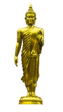 The standing buddha statue isolated Stock Image