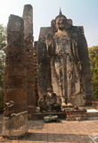 Standing Buddha statue in Old Sukhothai Stock Photos