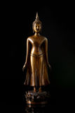 Standing buddha statue portrait isolated on black Royalty Free Stock Photos