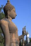 Standing Buddha statue at Sukhothai Stock Photos