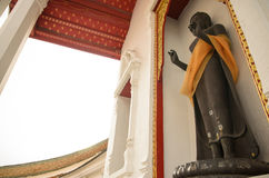 Standing Buddha statue. A standing Buddha statue in Wat Phra Pathom Chedi, Nakhon Pathom,Thailand Stock Photography