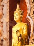 Standing Buddha status . Buddha image style pagoda. Standing Buddha status . Buddha image style pagoda Royalty Free Stock Photography