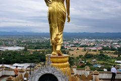 The standing Buddha statute of Nan Province, Thailand Royalty Free Stock Photos
