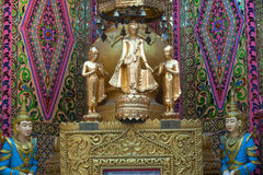 Standing Buddha at Sutaungyai Pagoda in Mandalay Hill. Stock Image