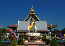 Standing Buddha at Thai temple Wat Thepnimit in Bangkok Royalty Free Stock Images