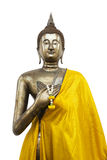 Standing Buddha on White Background Stock Image