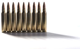 Standing Bullets Royalty Free Stock Images
