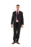 Standing business man with open mouth Royalty Free Stock Images