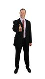 Standing business man in suit isolated on white Royalty Free Stock Photo