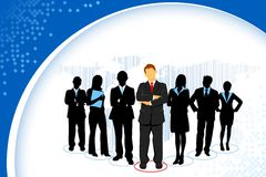 Standing Business People Royalty Free Stock Photos