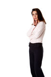 Standing business woman Royalty Free Stock Image