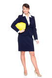Standing business woman Stock Images