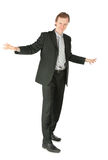 Standing businessman Stock Photo