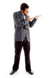 Standing Businessman Pointing Royalty Free Stock Photo
