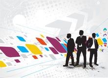 Standing businessman silhouette vector illustration