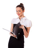 Standing businesswoman Stock Images
