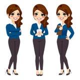 Standing Businesswoman Coffee Stock Photos