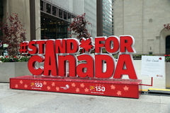 Standing For Canada. This Summer on July 1st, Canada celebrates 150th anniversary. Many Ontario attractions are taking part in the celebration Royalty Free Stock Photography