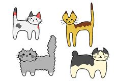 Standing cats Stock Images