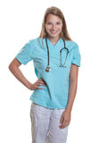 Standing caucasian nurse royalty free stock photography