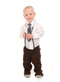 Standing Child Pretending to be a Doctor Stock Photos