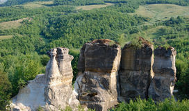 Standing cliffs Stock Photography