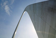 Standing close to Gateway Arch Stock Photos