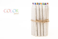 Standing color pencil Royalty Free Stock Image