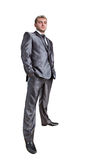 Standing confident businessman Stock Photos