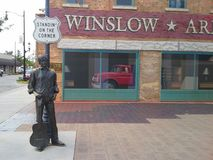 Standing on the corner in Winslow, Arizona Royalty Free Stock Images