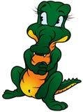 Standing Crocodile. Colored cartoon illustration stock illustration