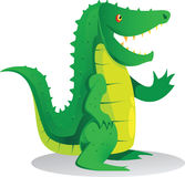 Standing crocodile. Cute green standing crocodile cartoon Royalty Free Stock Photography