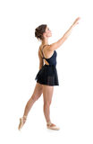 Standing dancer girl isolated Royalty Free Stock Photos