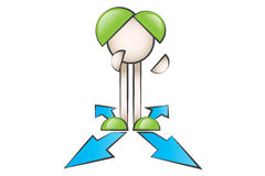 Standing in different ways. Cartoon characters standing in different ways Royalty Free Stock Images