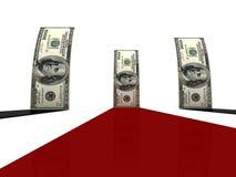Standing dollars Stock Image