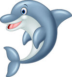 Standing Dolphin Cartoon Illustration Stock Photos