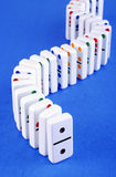 Standing Dominoes Royalty Free Stock Photo