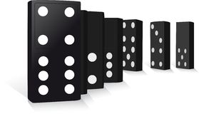 Standing Dominoes Stock Image