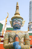 Standing dragon. Fragment of King Palace in Bangkok. Royal Pavilion Mahajetsadabadin in Thailand Stock Image