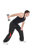 Standing Dumbbell One Arm Triceps Extensions Stock Photo